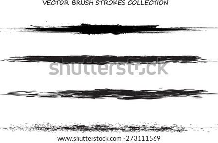 Set of grunge and ink strokes. vector template - easy to use - stock vector