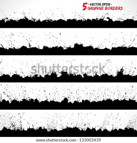 Set of grunge borders. Grunge background, Grunge brushes. Retro background. Vintage background. Design elements. Grunge texture. Business background. Texture background. Abstract shapes - stock vector