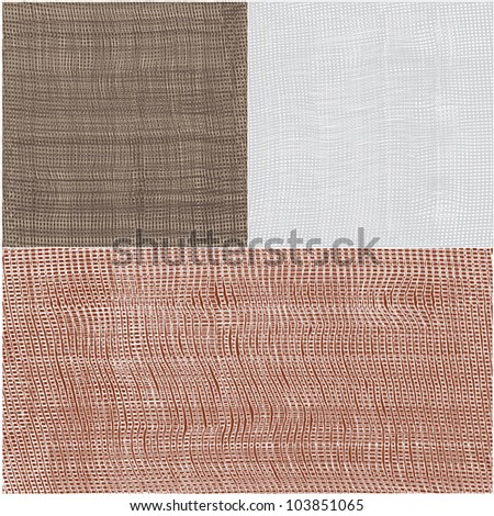 Set of grunge checkered and striped textures - stock vector