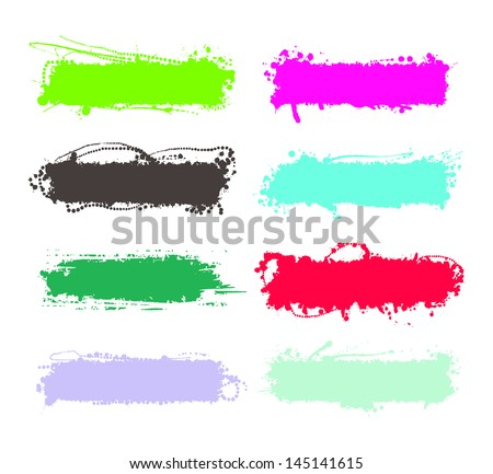 set of grunge elements, banners for any occasion - stock vector