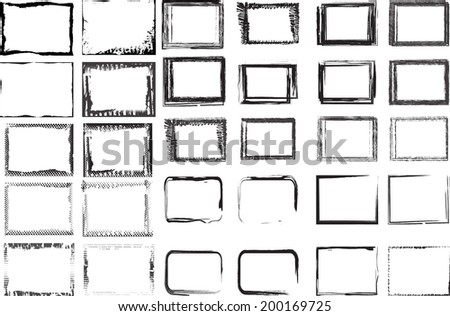 Set of grunge frames  - stock vector