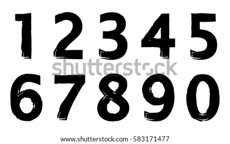 set grunge numbers vector distressed numbers stock vector royalty rh shutterstock com grunge vector free grunge vector pack