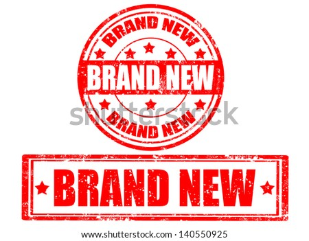 Set of grunge rubber stamps with text brand new inside,vector illustration - stock vector