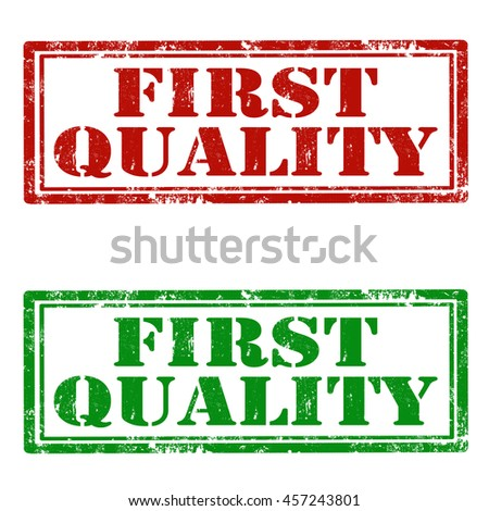 Set of grunge rubber stamps with text First Quality,vector illustration - stock vector