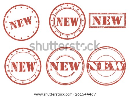 Set of grunge rubber stamps with text New,vector illustration - stock vector