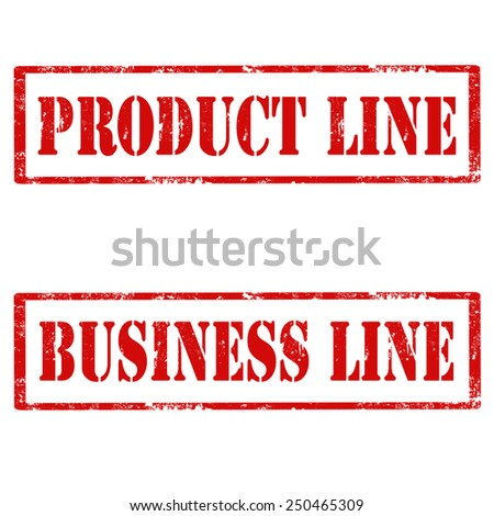 Set of grunge rubber stamps with text Product Line and Business Line,vector illustration - stock vector