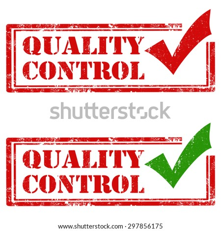 Set of grunge rubber stamps with text Quality Control,vector illustration - stock vector
