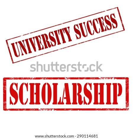Set of grunge rubber stamps with text University Success and Scholarship,vector illustration - stock vector