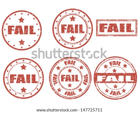 Set of grunge rubber stamps with word Fail inside,vector illustration - stock vector