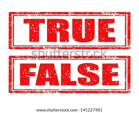 True Or False Stamp Tr...