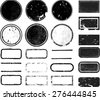 Set of Grunge Rubber Texture Stamp . - stock photo