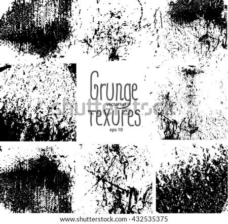 Set of grunge textures - stock vector