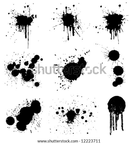 set of grunge vector - stock vector