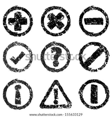 Set of grunge web icons - stock vector