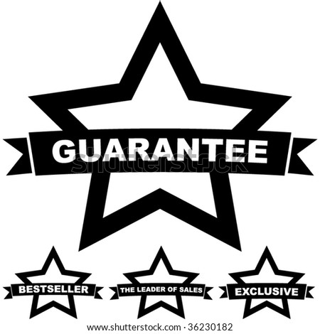 Set of guarantee and quality guaranteed stamp. - stock vector