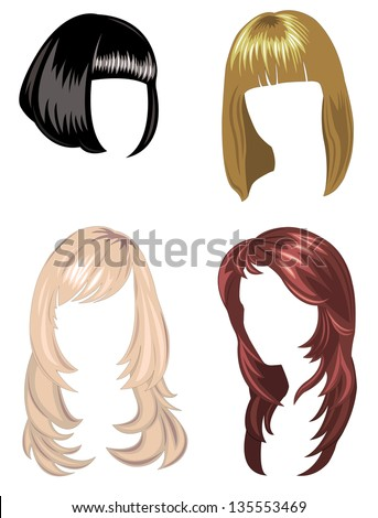 Set of hair styling of 2013 - stock vector