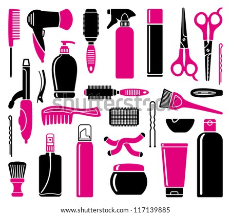 Hair salon stock photos images pictures shutterstock for Accessories for beauty salon