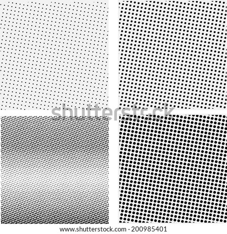 Set of halftone background. Vector illustration - stock vector