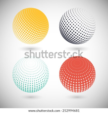 Set of halftone vector backgrounds. Halftone design elements