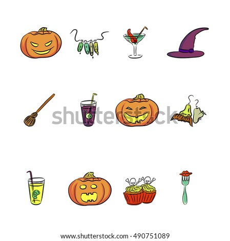 Set of halloween vectors