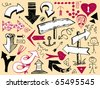 Set of hand drawn arrows. Visit my portfolio for big collection of doodles - stock vector