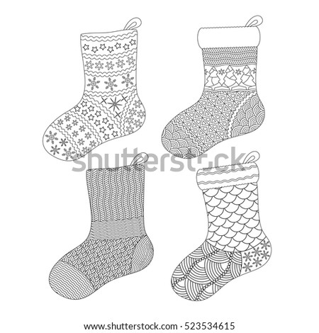 christmas socks coloring pages - xmas pattern stock photos royalty free images vectors