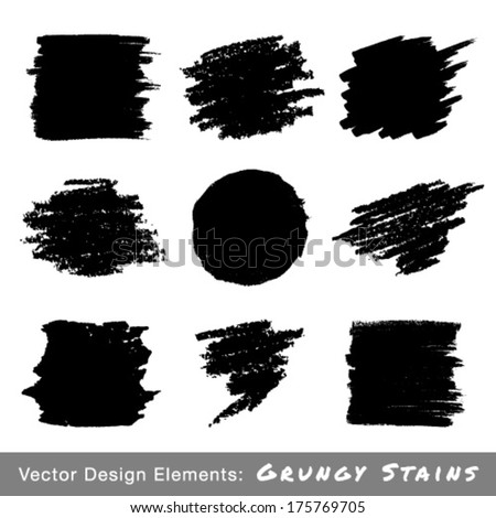 Set of Hand Drawn Grunge backgrounds. Vector Illustration  - stock vector
