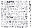 Set of hand drawn symbols - stock vector