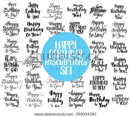 Happy Birthday Text Images RoyaltyFree Images Vectors – Birthday Card Font
