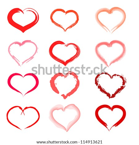 set of hearts. set of hearts concept. - stock vector