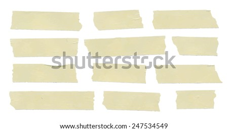 Set of horizontal and different size sticky tape - stock vector