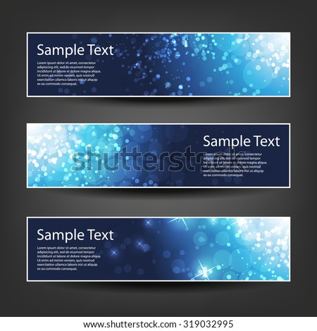 Set of Horizontal Christmas, New Year or Other Holidays Banner / Cover Background Designs - stock vector