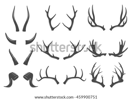 Set of horns icons