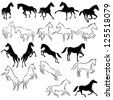 Set of horses - stock