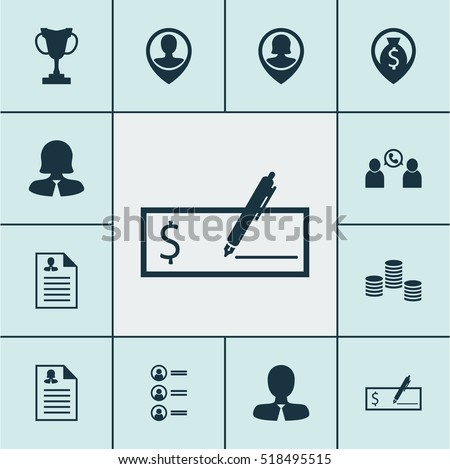 Set Of Hr Icons On Tournament, Manager And Pin Employee Topics. Editable Vector Illustration. Includes Conference, Call, Stacked And More Vector Icons.