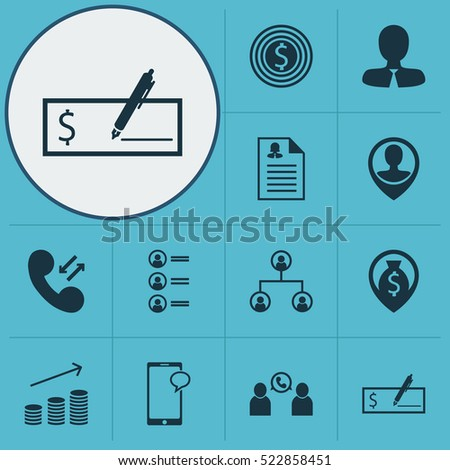 Set Of 12 Human Resources Icons. Can Be Used For Web, Mobile, UI And Infographic Design. Includes Elements Such As Goal, Structure, Profile And More.