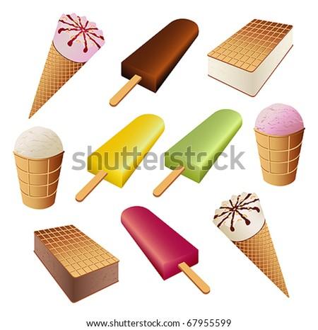 Set of ice cream - stock vector