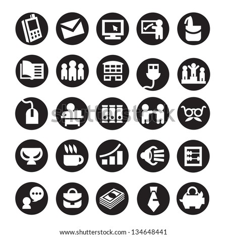 Set of icons. business - stock vector