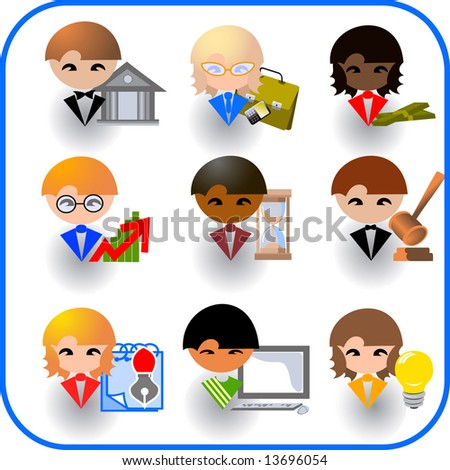 Set of icons for business - stock vector