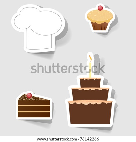 Set of icons for commercial restaurants and cafes - stock vector