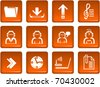Set of icons for WEB design - stock vector