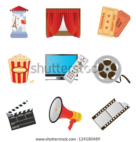 Set of icons for your design - stock vector