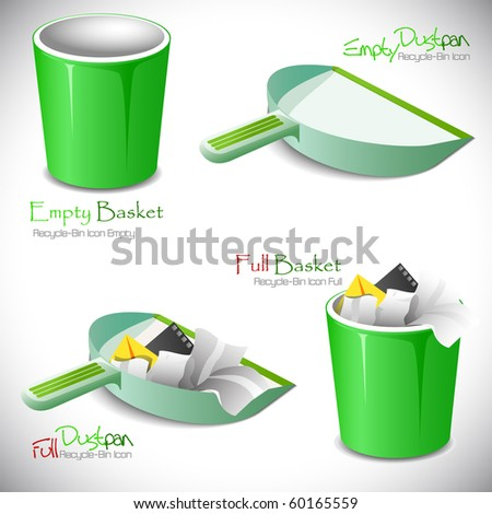 "Set of icons. ""Full"" and ""empty"".Vector illustration - stock vector"