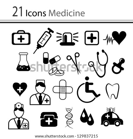 Set of icons medicine (vector)