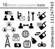 Set of icons - mobile communication ( vector) - stock photo