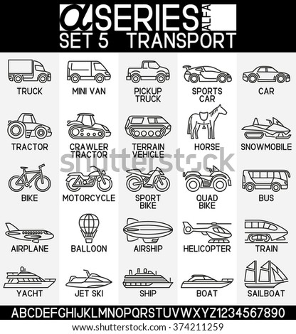 Set of icons- mode of transport, EPS 8 - stock vector
