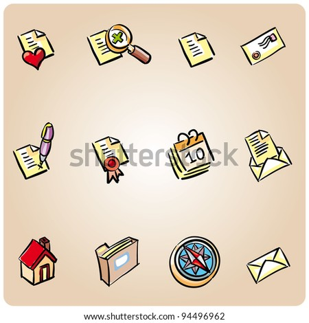 Set of 12 icons ready for the web or some app interface - stock vector