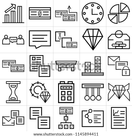 Set 25 Icons Such Graphics Diagram Stock Vector 1145894411