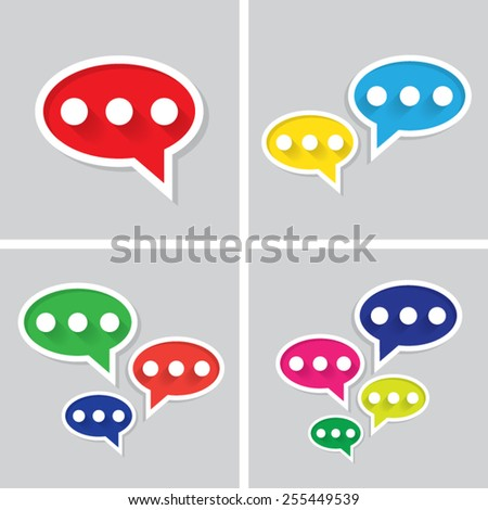 Set of icons with shadow vector illustration eps10 : Talk icons. - stock vector