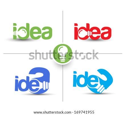 Set Of Idea Web Icon Design Element. - stock vector
